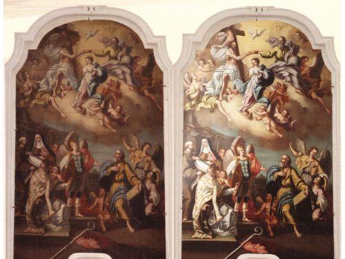Restaurata 'L'incoronazione della Vergine con i Santi' di Michele Scaroina