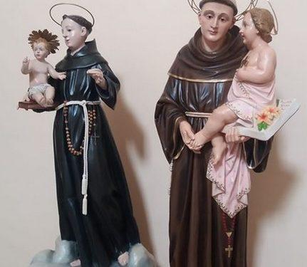 Statue di Sant'Antonio, grazie ai compaesani residenti tra Modena e Reggio Emilia